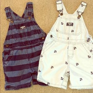 Toddler boy overall shorts